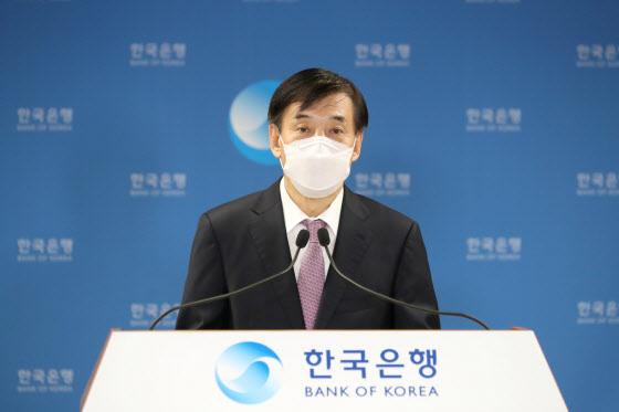 이주열 한국은행 총재가 15일 오전 서울 중구 한국은행에서 열린 통화정책방향 기자간담회에서 발언하고 있다. (사진=한국은행)