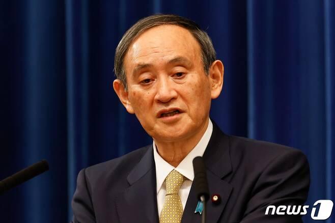 스가 요시히데 일본 총리 <자료사진> © AFP=뉴스1