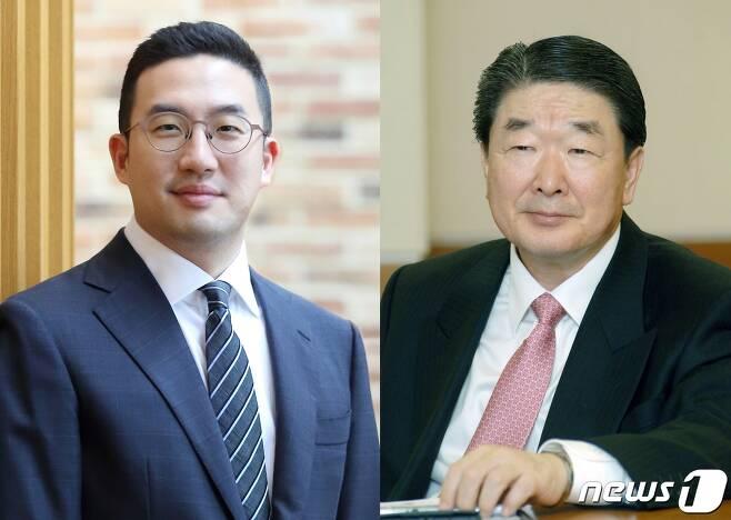 구광모 LG그룹 회장과 구본준 LG그룹 고문 © 뉴스1