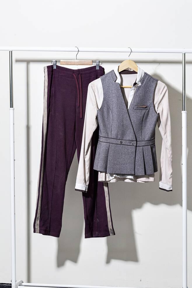 '엑시트'에서 의주(임윤아)가 입었던 유니폼과 트레이닝복. /김종연 영상미디어 기자
