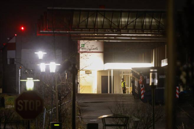 23일 영국발 변이 14명 집단감염이 확인된 독일 베를린 훔볼트 병원(사진=AFP)
