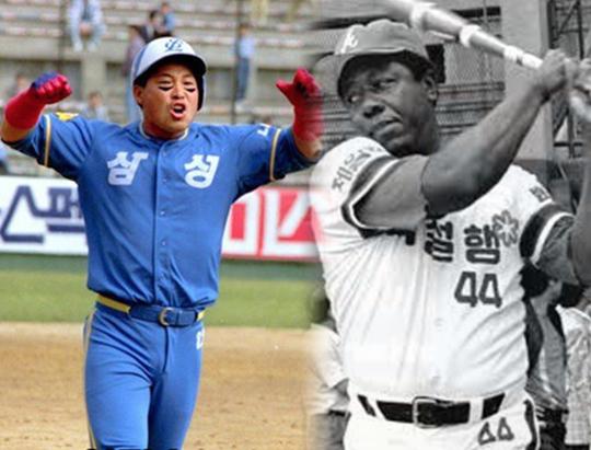 한국의 홈런왕 이만수, 미국의 홈런왕 행크 애런