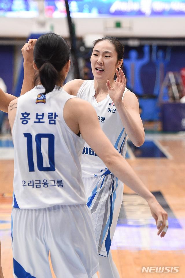 [서울=뉴시스]여자프로농구 아산 우리은행 박혜진 (사진 = WKBL 제공)