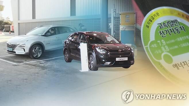 연비 좋은 친환경 승용차 보조금(CG) [연합뉴스TV 제공]