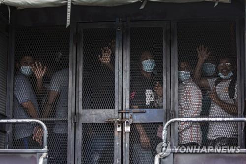 말레이시아의 불법체류 외국인 노동자 [EPA=연합뉴스]