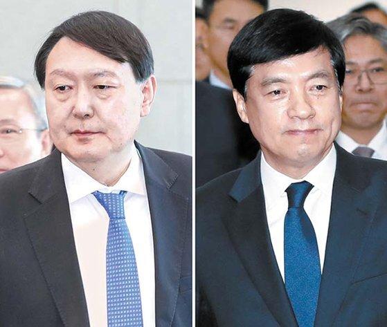 이성윤 서울중앙지검장(오른쪽), 윤석열 총장(왼쪽) [뉴스1·연합뉴스]