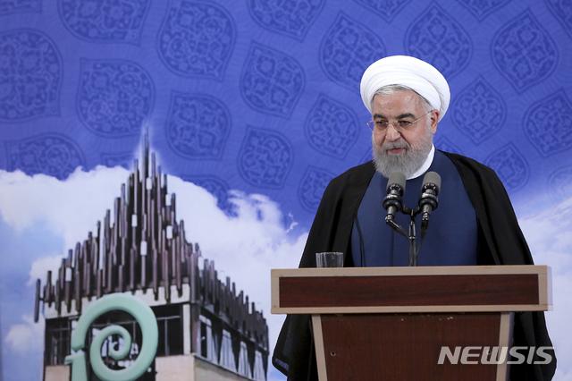 【테헤란(이란)=AP/뉴시스】하산 로하니 이란 대통령. 2019.10.05.