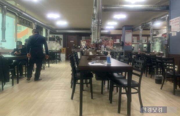 낮 12시30분께 쌍용차 평택공장 인근 식당이 한산한 모습을 보이고 있다./ 사진=신현아 한경닷컴 기자