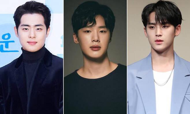 배우 조병규(왼쪽부터), 배우 김동희, 세븐틴 민규