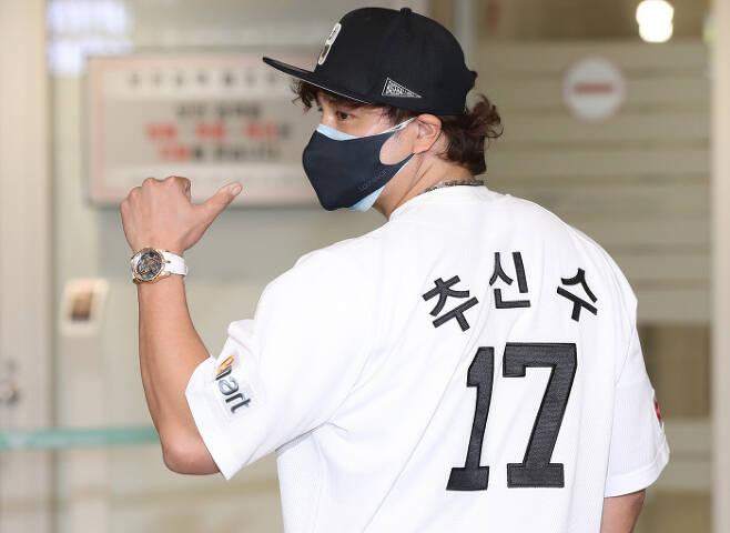 추신수 \'내 등번호는 17번!\'. 연합뉴스