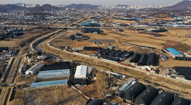 지난 2월 24일 오후 경기도 시흥시 과림동 일대 모습. 연합뉴스