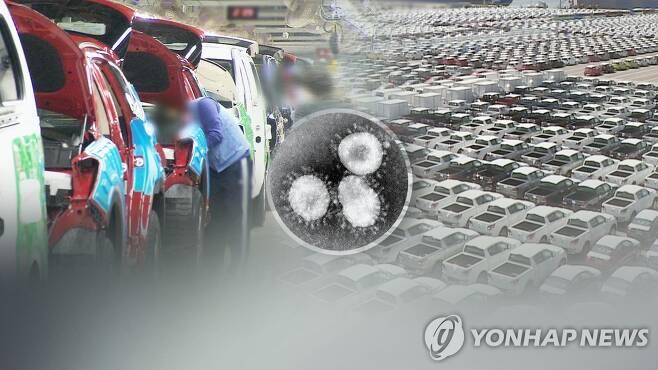 코로나 여파로 작년 해외 주요 시장 자동차 판매 감소(CG) [연합뉴스TV 제공]
