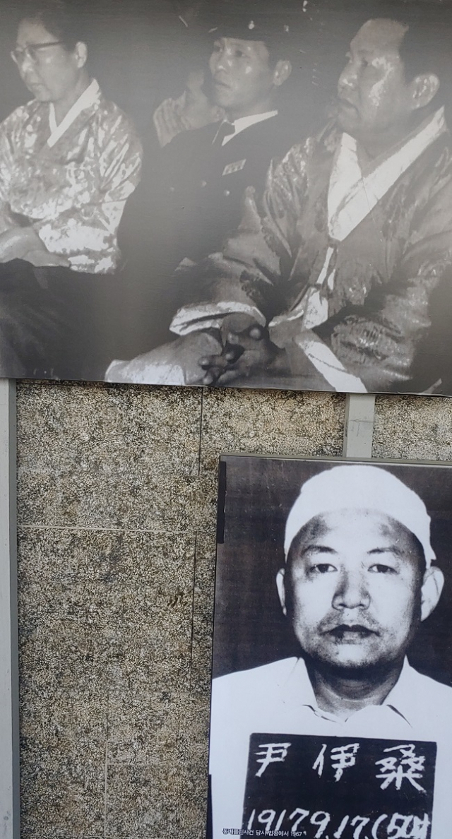 ▲ 윤이상기념관에 전시되어 있는, 동백림 사건 당시의 윤이상 모습 ⓒ손호철