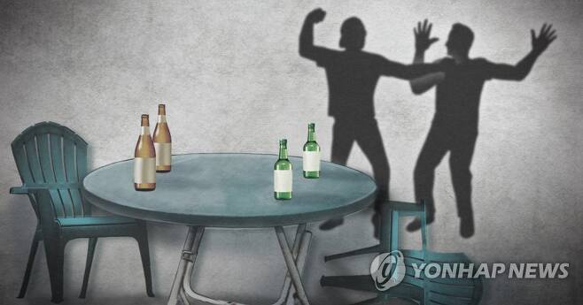 술자리 폭행·난투극 (PG) [제작 정연주, 최자윤] 일러스트