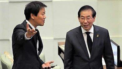 임종석 전 청와대 비서실장(왼쪽)과 고 박원순 전 서울시장.