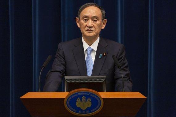 스가 요시히데 일본 총리. 사진=AP/뉴시스.