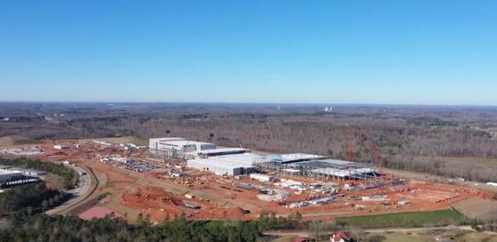 미국 조지아주 제1 배터리 공장 건설현장. SK이노베이션 제공