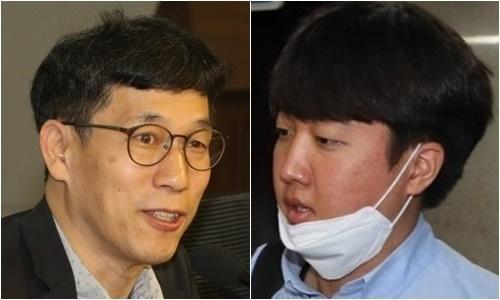 진중권 전 동양대 교수(왼쪽)와 이준석 전 국민의힘 최고위원. 연합뉴스