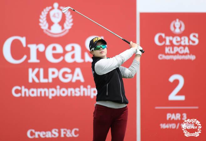 김효문은 크리스F&C KLPGA 챔피언십에서 공동 4위로 마치긴 했지만 자신감이라는 소중한 걸 얻은 대회였다.KLPGA 제공