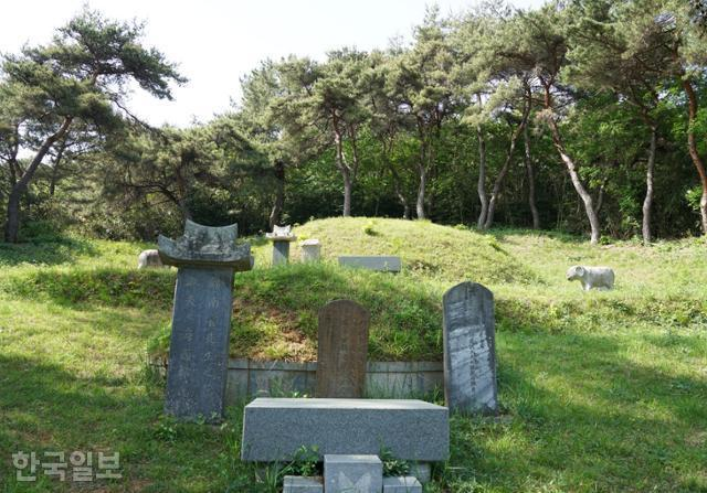 느러지마을에 '표해록'을 지은 최부와 그의 부친 묘소가 있다.