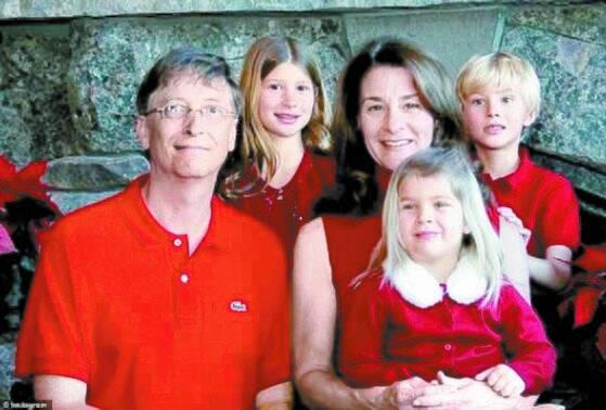 게이츠 부부와 세 자녀. 뒤가 큰딸 제니퍼와 아들 로리, 앞이 둘째 딸 피비. [멀린다 게이츠 인스타그램]
