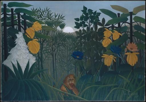 앙리 루소, '사자의 식사(The Repast of the Lion)', 1907, 캔버스에 유채, 113.7x160㎝.뉴욕 메트로폴리탄박물관 제공