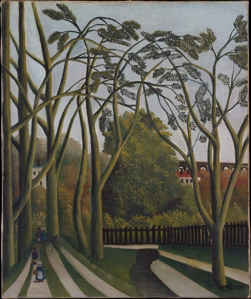 앙리 루소, '비세트르 근교 비에브르 기슭(The Banks of the Bievre near Bicetre)', 1908~1909, 캔버스에 유채, 54.6x45.7㎝. 뉴욕 메트로폴리탄박물관 제공