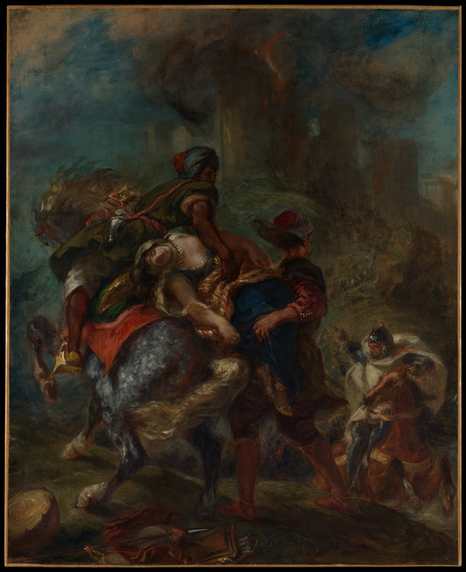 루소는 들라크루아 등의 작품들을 보았을 것으로 추측한다. 들라크루아, '레베카의 유괴', 1846, 캔버스에 유채, 100.3x81.9㎝. 뉴욕 메트로폴리탄박물관 제공