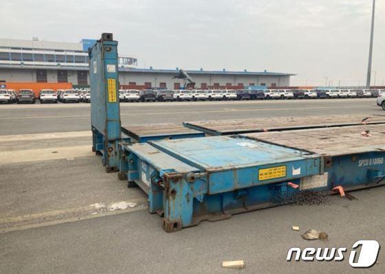고 이선호씨가 사고 당시 일했던 FRC 개방형 컨테이너 모습./사진=뉴스1(대책위 제공)