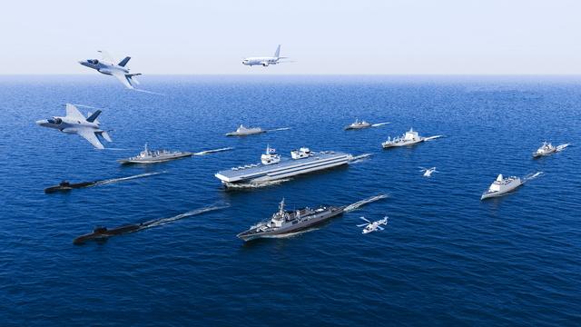 [서울=뉴시스] 경항모 전투단 개념도. 2021.02.04. (사진=해군 제공)