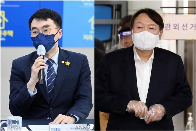 김남국 더불어민주당 의원(왼쪽)과 윤석열 전 검찰총장(오른쪽)./사진=뉴스1