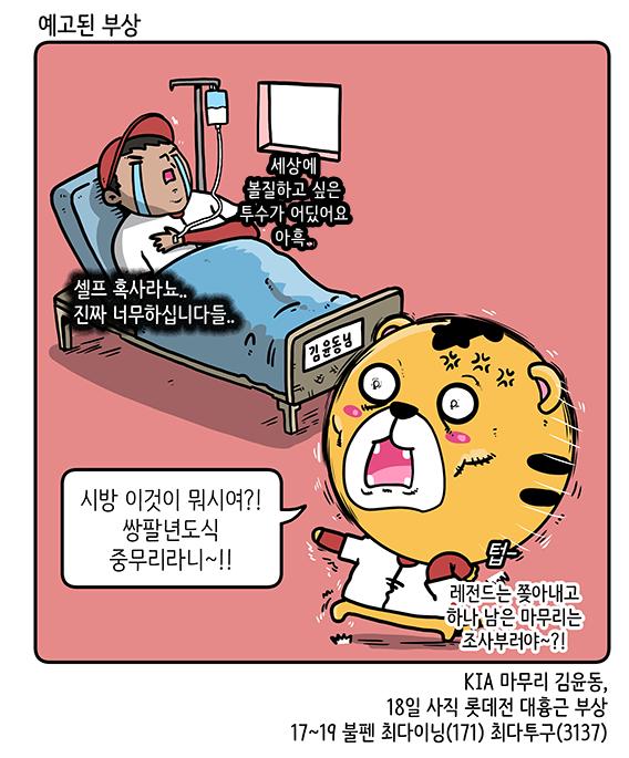 출처: [KBO 야매카툰] 김윤동-손승락, 혹사엔 장사 없다