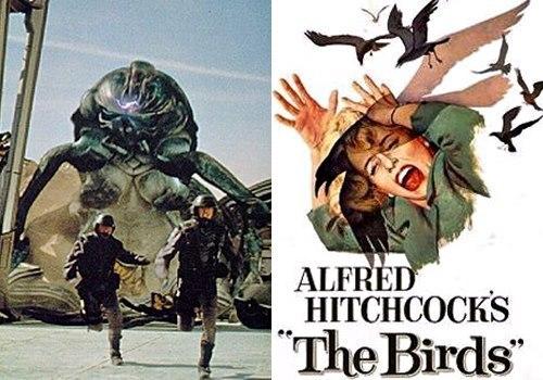 출처: 영화 스타십 트루퍼스 스틸컷 및 히치콕의 새 포스터