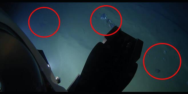 수심 1만m의 필리핀 해구 엠덴 해연에서 발견된 각종 쓰레기 [캘러던 오셔닉(Caladan Oceanic) 유튜브 캡처]