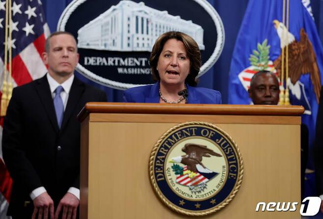 7일(현지시간) 미국 법무부가 지난달 발생한 콜로니얼 파이프라인 해킹 사건에서 몸값으로 지불된 비트코인 일부를 회수했다고 발표하고 있다. © 로이터=뉴스1 © News1 박형기 기자