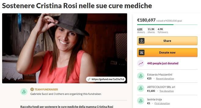 로시의 남편 수치는 아내의 해외 치료비 조달을 위해 모금 사이트 '고펀드미'를 통해 치료비를 지원받고 있다. (고펀드미 갈무리) © 뉴스1