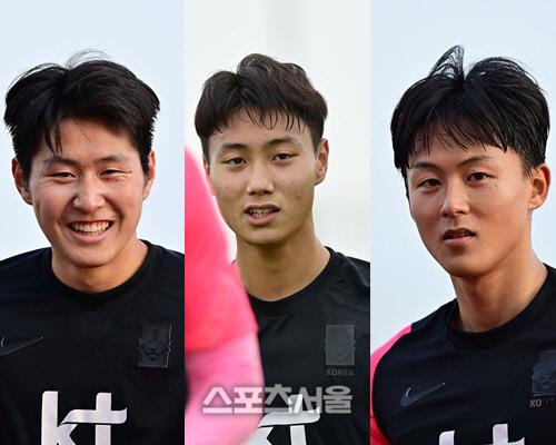 올림픽대표팀 이강인(왼쪽부터), 백승호, 이승우.