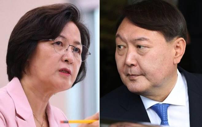 추미애 전 법무부 장관과 윤석열 전 검찰총장. /조선일보 DB