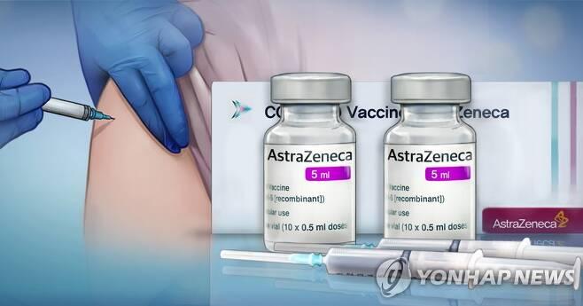 아스트라제네카 백신 접종 (PG) [홍소영 제작] 일러스트