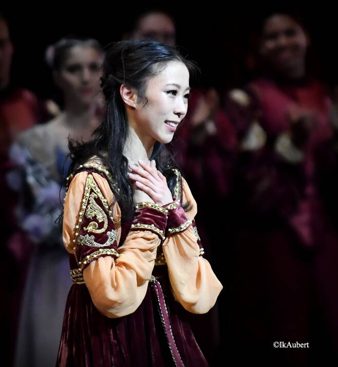 파리오페라발레단 '로미오와 줄리엣' 개막공연을 마치고 에투알로 지명된 박세은 /박세은 제공