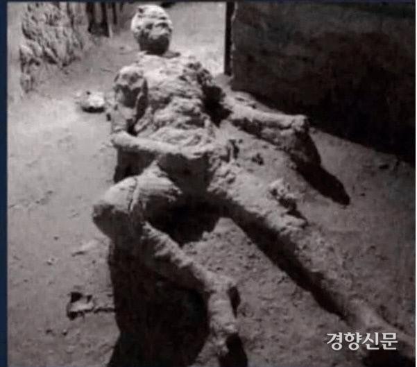 '박제 레전드', '남자의 성욕을 이해하고 싶다면 이것을 기억하라', '후세에 박제되어 웃픈' 등의 이름으로 인터넷에서 공유되고 있는 폼페이에서 발굴된 인간화석./aagag.com