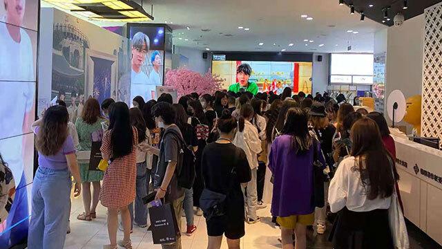 'BTS 페스티벌'을 보기 위해 중국 전역서 몰려 온 팬들