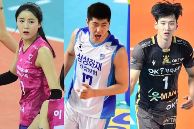 (왼쪽부터) 배구선수 이다영, 박상하, 송명근 / 사진=MK스포츠, 한국프로배구연맹 제공