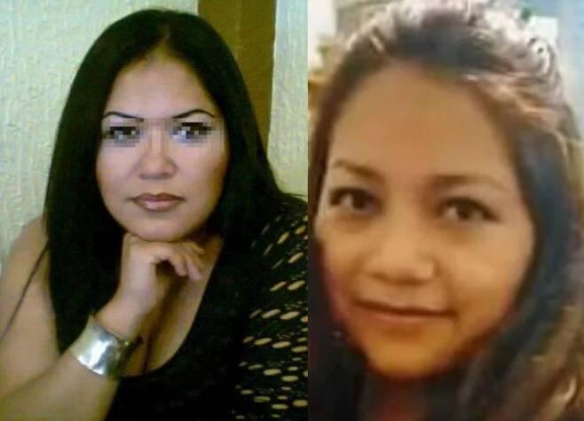 전직 도축업자에게 살해된 것으로 추정되는 여성(왼쪽)과 또다른 희생자인 경찰관의 부인(오른쪽). (더선 갈무리) © 뉴스1
