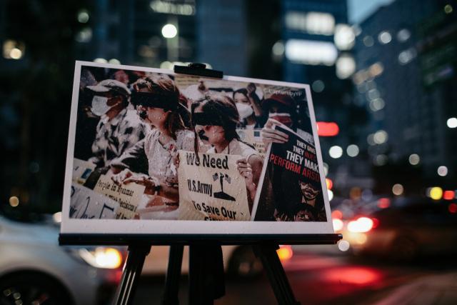 ▲ 미얀마인들은 국제 사회의 강력한 개입을 요청하고 있다. ⓒ프레시안(최형락)