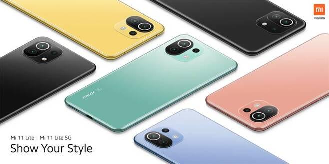 샤오미 Mi 11 라이트와 Mi 11 라이트 5G, 스펙과 성능은 거의 동일하지만 가격은 각각 299유로(40만 원), 399유로(54만 원) 정도로 차이가 크다. 출처=샤오미