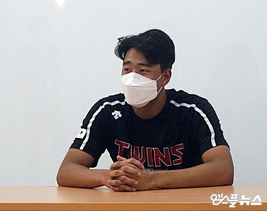 LG 투수 정우영(사진=엠스플뉴스 김근한 기자)