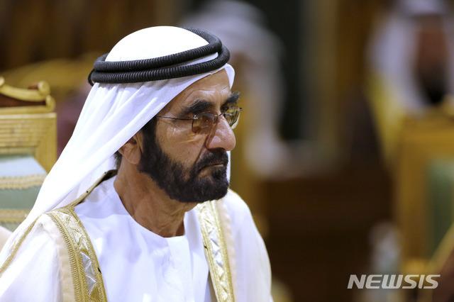 [리야드=AP/뉴시스] 지난 2019년 12월10일 무함마드 빈 라시드 알막툼 아랍에미리트(UAE) 부통령 겸 두바이 국왕이 사우디아라비아 리야드에서 열린 제40회 걸프협력회의 정상회의에 참석하고 있다. 2021.07.22.