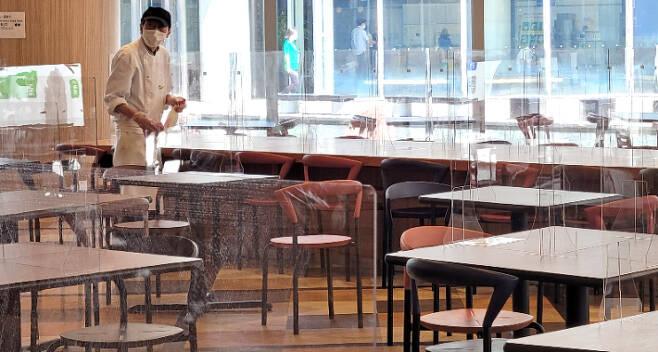 도쿄올림픽 미디어프레스센터 내부 식당. 연합뉴스