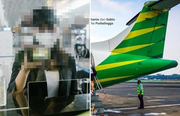 남성은 최근 자카르타 할림 페르다나쿠수마 공항에서 고향인 테르나테로 가는 씨티링크항공 국내선 여객기에 탑승했다. 코로나19 감염으로 비행기 탑승이 어려워지자 아내 신분증과 유전자증폭(PCR) 음성 확인서를 도용, 공항 검열을 통과했다. 얼굴은 니캅으로 가려 위장했다.